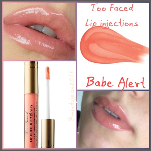 Too Faced Lip Injections Glossy 💗Babe Alert NWT